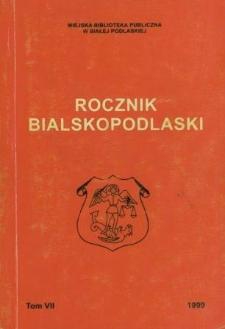 Rocznik Bialskopodlaski. T.7 (1999)