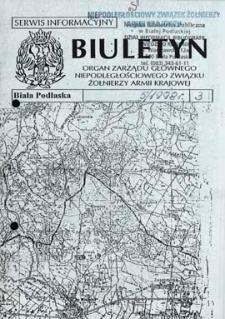 """Biuletyn : organ Zarządu Głównego Niepodległościowego Związku Zołnierzy Armii Krajowej : serwis informacyjny """"S"""" R. 2 (1998) nr 5 (3)"""