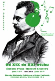 """Plakat : Spotkanie """"Śladami Prusa - od XIX do XXI wieku"""" (Noc Bibliotek, 16.05. 2015 r.)"""