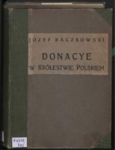 Donacye w Królestwie Polskim