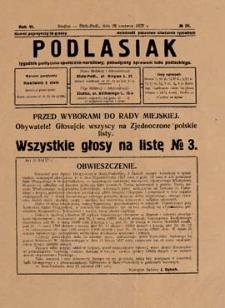 Podlasiak : tygodnik polityczno-społeczno-narodowy, poświęcony sprawom ludu podlaskiego R. 6 (1927) nr 26