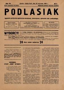 Podlasiak : tygodnik polityczno-społeczno-narodowy, poświęcony sprawom ludu podlaskiego R. 7 (1928) nr 5