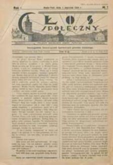 Głos Społeczny R. 2 (1934) nr 1