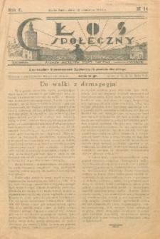 Głos Społeczny R. 2 (1934) nr 14
