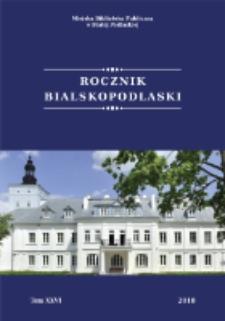 Rocznik Bialskopodlaski T. 26 (2018)