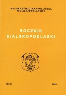 Rocznik Bialskopodlaski. T. 11 (2003)