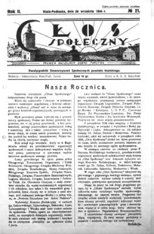 Głos Społeczny R. 2 (1934) nr 21