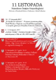 Afisz : [Inc.:]11 Listopada Narodowe Święto Niepodległości