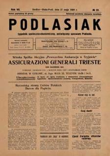 Podlasiak : tygodnik polityczno-społeczno-narodowy, poświęcony sprawom ludu podlaskiego R. 7 (1928) nr 22