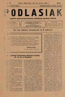 Podlasiak : tygodnik polityczno-społeczno-narodowy, poświęcony sprawom ludu podlaskiego R. 8 (1929) nr 25