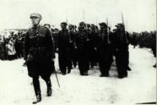 Bialski oddział Związku Strzeleckiego na defiladzie 11 listopada 1938 r. [fotografia]