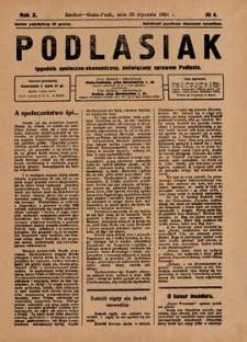 Podlasiak : tygodnik polityczno-społeczno-narodowy, poświęcony sprawom ludu podlaskiego R. 10 (1931) nr 4