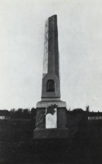 Obelisk postawiony na pamiatkę postoju wojsk Suworowa po bitwie pod Terespolem w 1794 r.[fotografia]