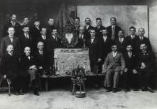 Członkowie Cechu Ślusarzy, Kowali i Blacharzy w Białej Podlaskiej [fotografia]
