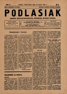 Podlasiak : tygodnik polityczno-społeczno-narodowy, poświęcony sprawom ludu podlaskiego R. 10 (1931) nr 9
