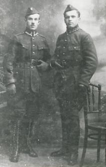 Żołnierze wojska polskiego z okolic Zasiadek [fotografia]