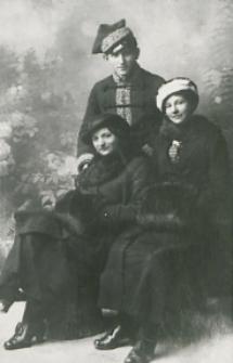 Julian Abramowicz z matką i ciotka [fotografia]