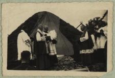 Uroczystość odsłonięcia kopca w Żerocinie upamiętniającego Marszałka Józefa Piłsudskiego i pobyt I Brygady Legionów w 1915 r. [fotografia]