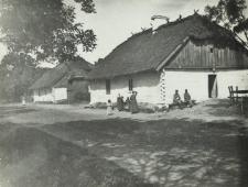 Domy wiejskie w okolicach Kościeniewicz [fotografia]