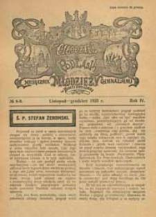 Młodzież z Podlasia : miesięcznik młodzieży gimnazjalnej w Białej Podlaskiej R. 4 (1925) nr 8-9