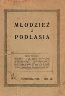 Młodzież z Podlasia : miesięcznik młodzieży gimnazjalnej w Białej Podlaskiej R. 7 (1928) nr 5