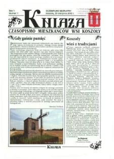 Kniaża: czasopismo mieszkańców wsi Koszoły R. 1 (2010) nr 1