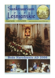 Sanktuarium Leśniańskie : kwartalnik R. 1 (2006) nr 4