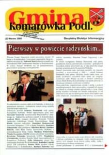Gmina Komarówka Podlaska : Bezpłatny Biuletyn Informacyjny Nr 2 (marzec 2009)