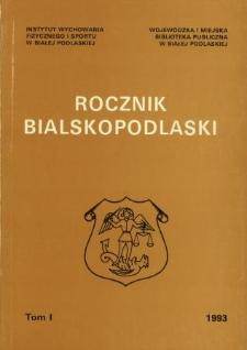 Rocznik Bialskopodlaski. T.1 (1993)
