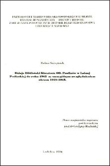 Dzieje Biblioteki Klasztoru OO. Paulinów w Leśnej Podlaskiej do roku 1945 ze szczegółnym uwzględnieniem okresu 1919-1945