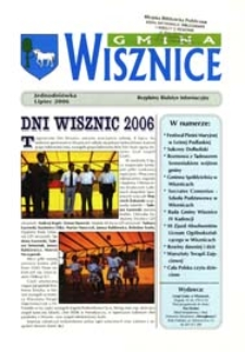 Gmina Wisznice: Bezpłatny Biuletyn Informacyjny [Nr 6] (lipiec 2006)