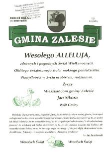 Gmina Zalesie: kwartalnik nr 1 ( kwiecień 2003)