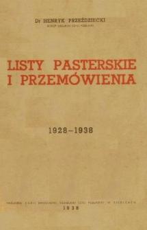 Listy pasterskie i przemówienia : 1928-1938