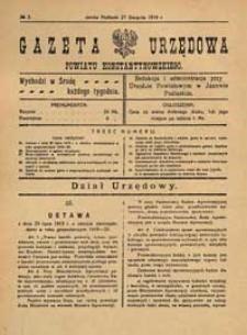Gazeta Urzędowa Powiatu Konstantynowskiego R.1 (1919) nr 3