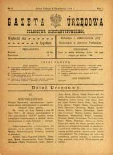 Gazeta Urzędowa Starostwa Konstantynowskiego R.1 (1919) nr 9