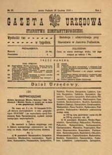 Gazeta Urzędowa Starostwa Konstantynowskiego R.1 (1919) nr 20