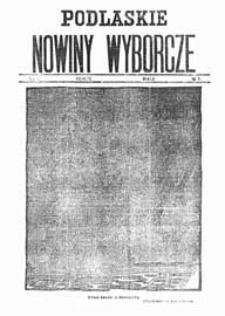 Podlaskie Nowiny Wyborcze R. 1 (1922) nr 9