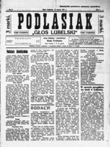 Głos Lubelski - Podlasiak : pismo tygodniowe R. 1 (1921) nr 9