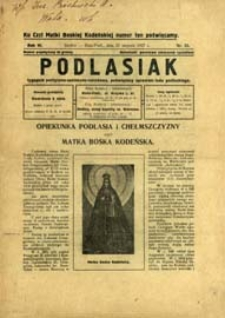 Podlasiak : tygodnik polityczno-społeczno-narodowy, poświęcony sprawom ludu podlaskiego R. 6 (1927) nr 35