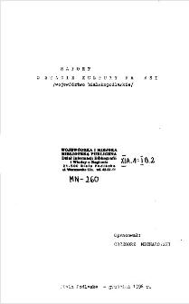 Raport o stanie kultury na wsi : (województwo bialskopodlaskie)