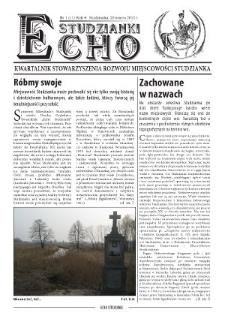 Echo Studzianki : kwartalnik Stowarzyszenia Rozwoju Miejscowości Studzianka R. 4 (2012) nr 1 (11)