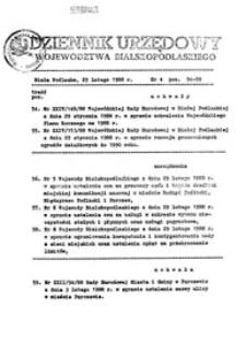 Dziennik Urzędowy Województwa Bialskopodlaskiego R. 14 (1988) nr 4
