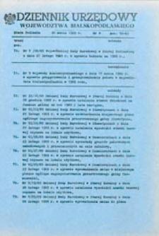 Dziennik Urzędowy Województwa Bialskopodlaskiego R. 15 (1989) nr 6