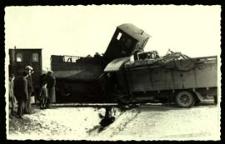 Wypadek Bialskiej Kolejki Wąskotorowej [dokument ikonograficzny]
