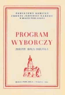 Program wyborczy powiatu Biała Podlaska, 1961