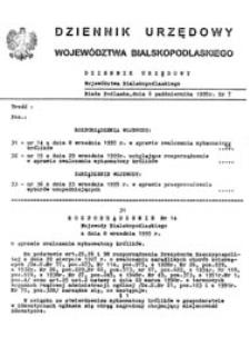 Dziennik Urzędowy Województwa Bialskopodlaskiego R. 21 (1995) nr 7