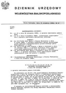 Dziennik Urzędowy Województwa Bialskopodlaskiego R. 22 (1996) nr 8