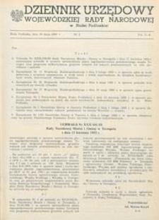 Dziennik Urzędowy Wojewódzkiej Rady Narodowej w Białej Podlaskiej R. 9 (1983) nr 2