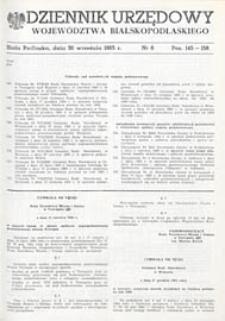 Dziennik Urzędowy Województwa Bialskopodlaskiego R. 11 (1985) nr 6