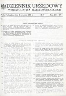 Dziennik Urzędowy Województwa Bialskopodlaskiego R. 11 (1985) nr 7